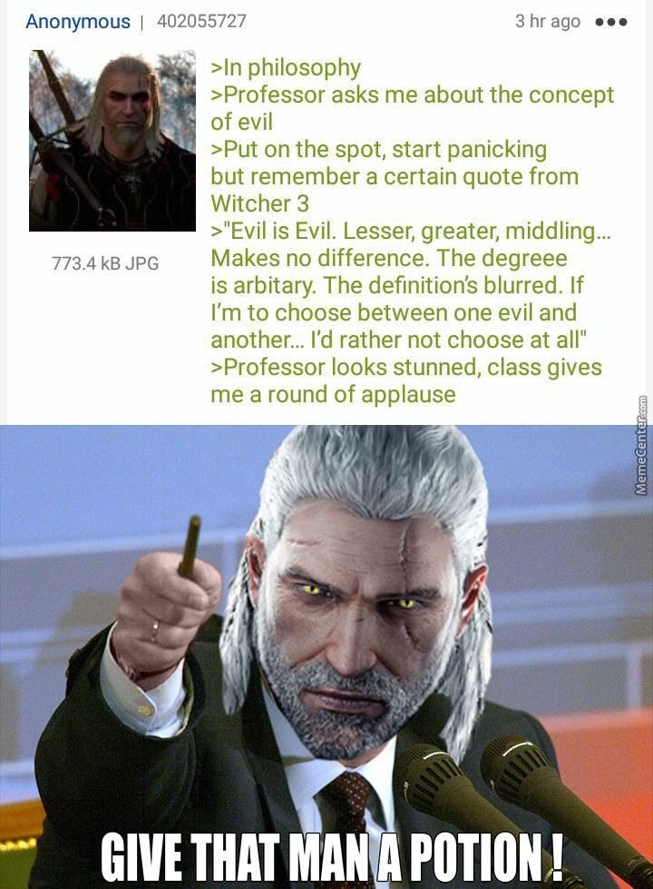 Witcher Meme Funny Gaming Memes Funny Games Video Games Funny