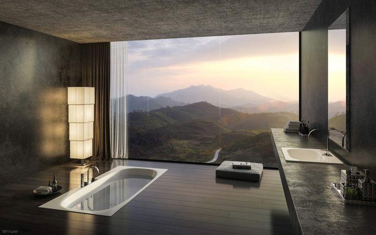 sunken tub in luxury bathroom maison valentina sunken-tub sunken-tub