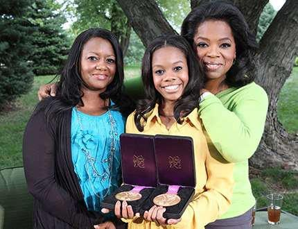 Gabrielle Douglas | 2012 Olympic Gymnastics Gold Medalist with her mom and Oprah
