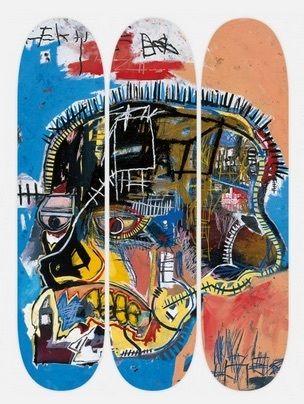 "MISFIT PRINTS - New Skateboard Decks For Sale:  TheSkateRoom x Basquiat Collaboration (""Untitled Skull"" Three Deck Set 2014)"