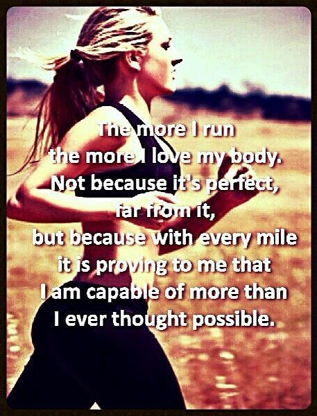 Why I run.  The power to have control over something difficult. The power to still be as tough as ever. It's not about weight, it's not about miles, it's about Sisu.
