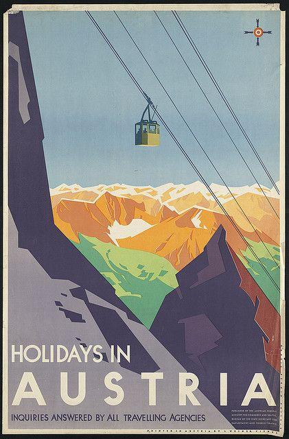 Holidays in Austria #vintage #travel #poster
