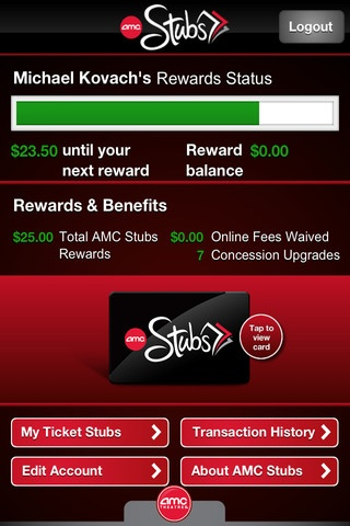 new AMC Theaters mobile app offers showtimes, tickets & doubles as rewards card