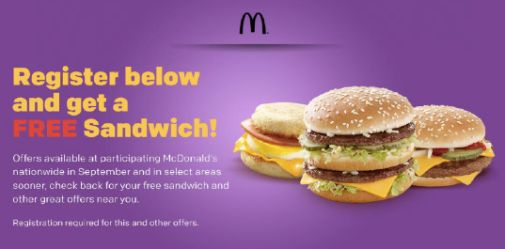 how to get free food from mcdonalds app