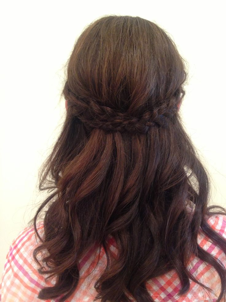 Maid of honor half up half down up do by Nicolette ...