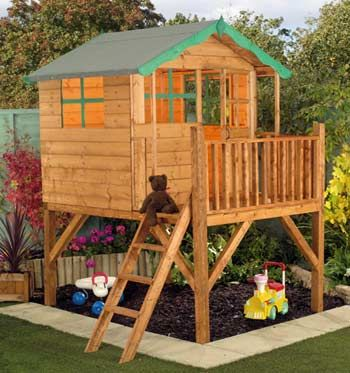 Simple kids playhouse plans woodworking projects plans for Plans for childrens playhouse