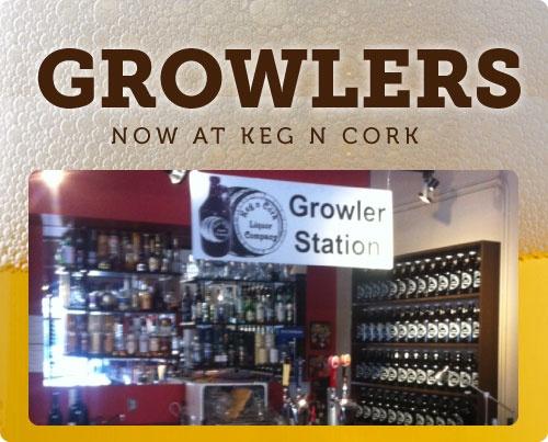 Growlers at Keg n Cork, Edmonton