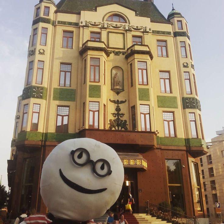 Recuerdos del #verano y del súper viaje por los #Balcanes con @stabri... Aquí estamos en el Hotel Moscú de #Belgrado #Serbia  #pelucheando #stabri #stabriviaja #Beograd #peluche #peluches #softtoys #softies #plush #plushies #instatoys #traveltoys #Balcans