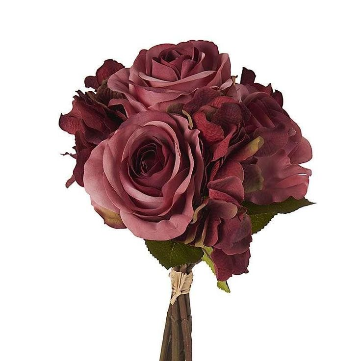 FABRIC BOUQUET W/ROSES IN FUCSHIA COLOR Η-36 - inart
