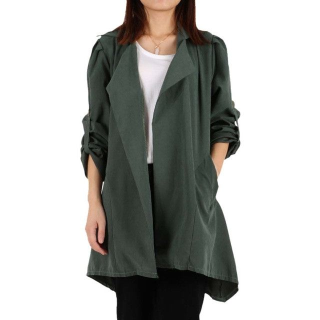 Fashion Casual Women Hooded Coat Long Sleeve Outerwear Spring Autumn Long Coats Ladies Hooded Jean Jackets