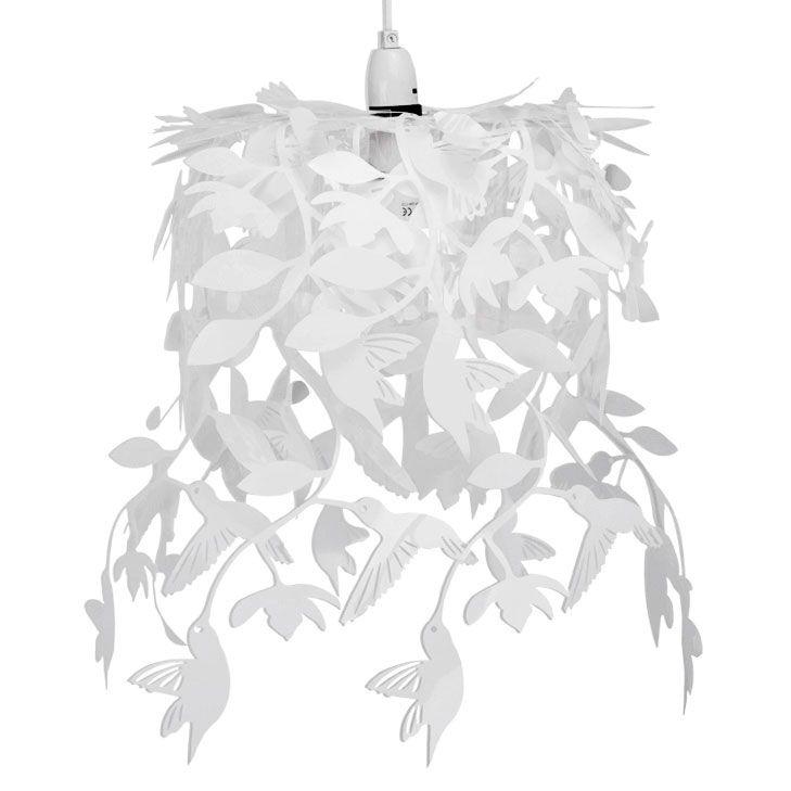 Lief en Klein hanglamp vogeltjes wit Speelse hanglamp vogeltjes wit voor de babykamer of kinderkamer. De lamp is gemaakt van kunststof.
