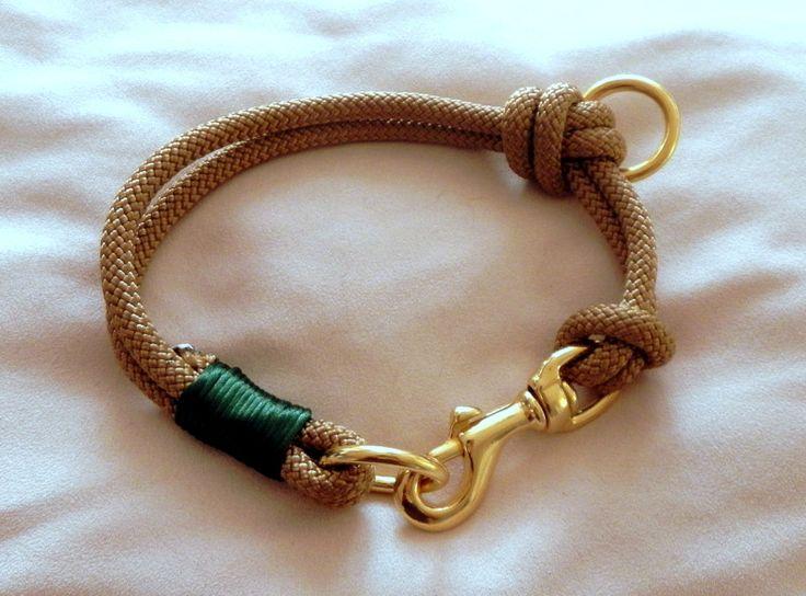 Hund: Halsbänder - Elegantes Hundehalsband aus Segeltau - ein Designerstück von adorable_dog bei DaWanda