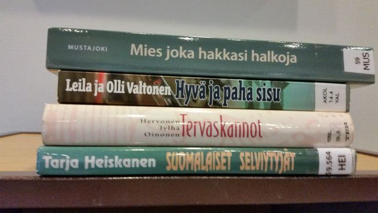 Mies joka hakkasi halkoja. Hyvä ja paha sisu. Tervaskannot. Suomalaiset selviytyjät.