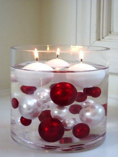 Unique Wholesale Transparent Water Gels Packet Vase Fillers for Floating the Pearl Beads .....The Red and White Pearl Bead... $2.99 #topseller