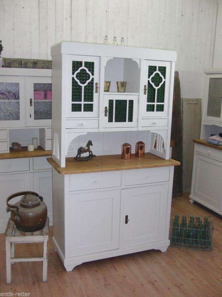 Jugendstil Küchenbuffet Buffet Anrichte Vintage Shabby Landhaus Antik Retter HH in Antiquitäten & Kunst, Mobiliar & Interieur, Schränke | eBay