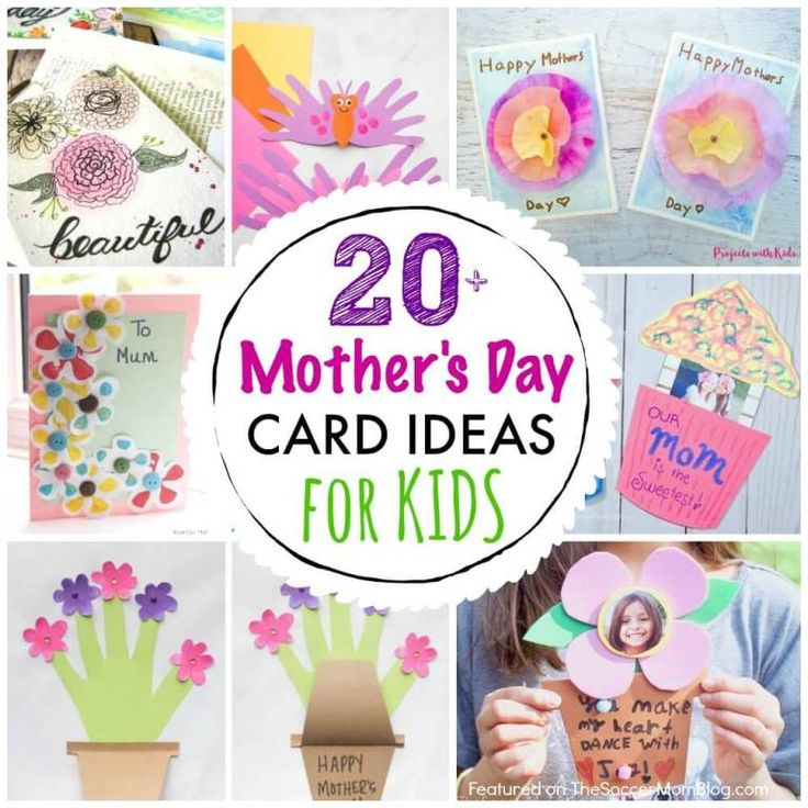 23 homemade mothers day cards for kids to make mothers