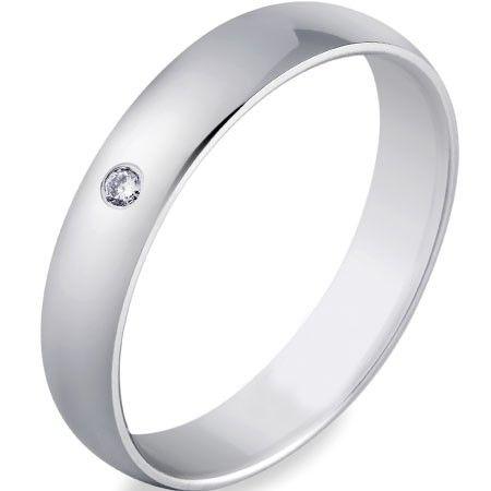 L'alliance BLISTE est en or blanc 18 carats poli sertie d'un diamant Hsi de 0,02 carats. [245,00€]