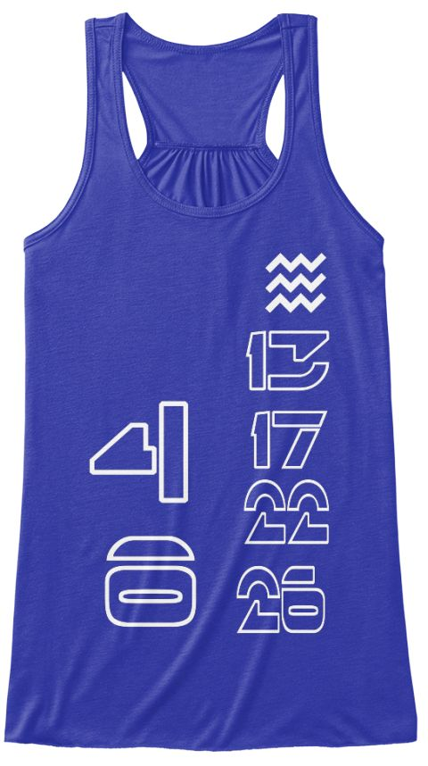 4 10 13 17 22 26 True Royal T-Shirt Front