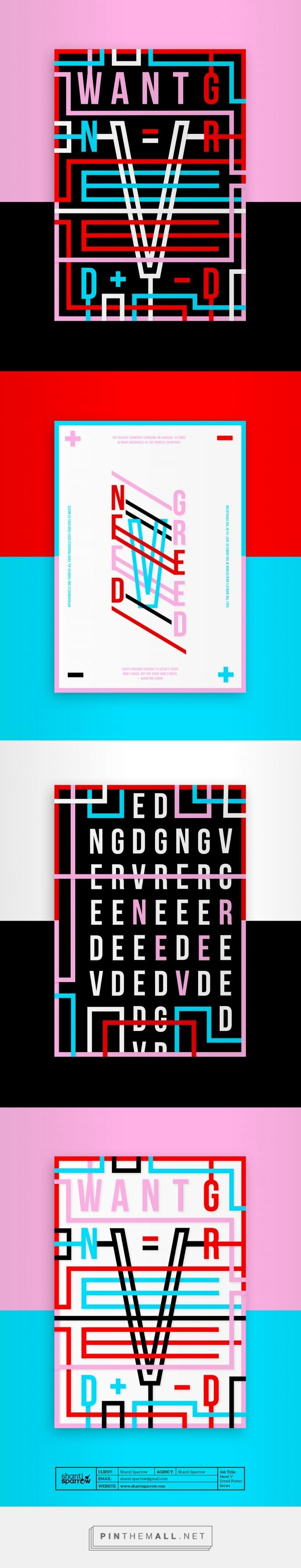 Need V Greed Poster Series by Shanti Sparrow Design | Fivestar Branding Agency – Design and Branding Agency & Curated Inspiration Gallery