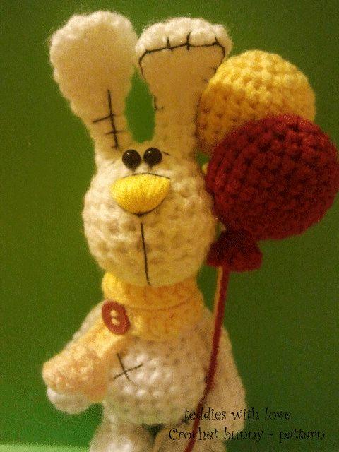 Crochet bunny pattern PDF dosument by teddieswithlove on Etsy