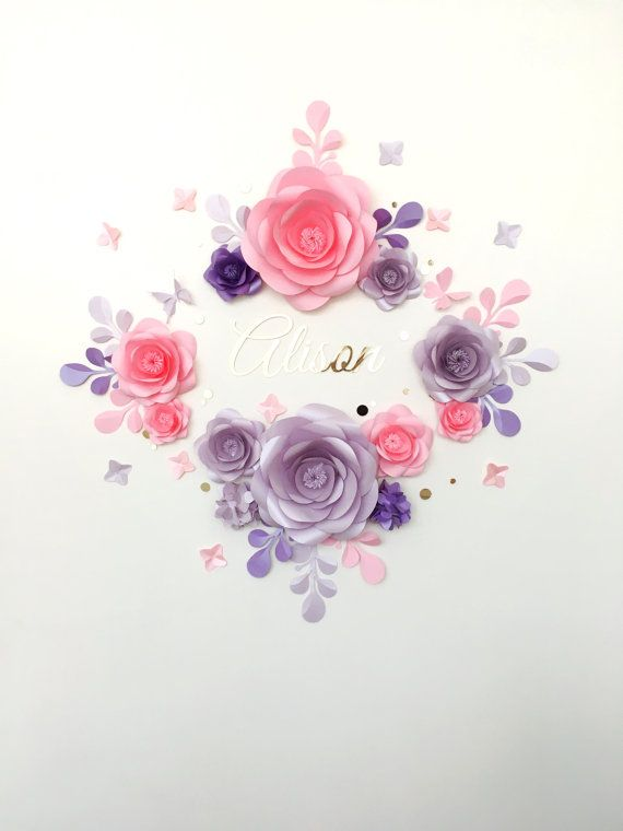 Royal Paper Flower Set for baby room  Elegant Paper by MioGallery