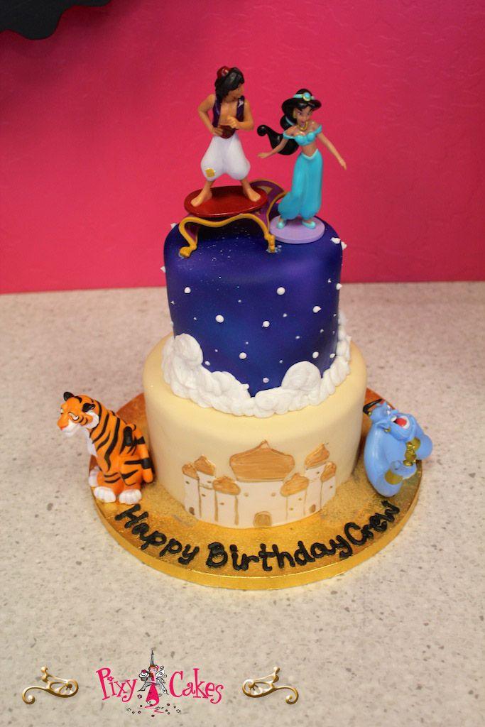 Pixy Cakes – birthday cake boy girl aladdin 2 tier plastic ...