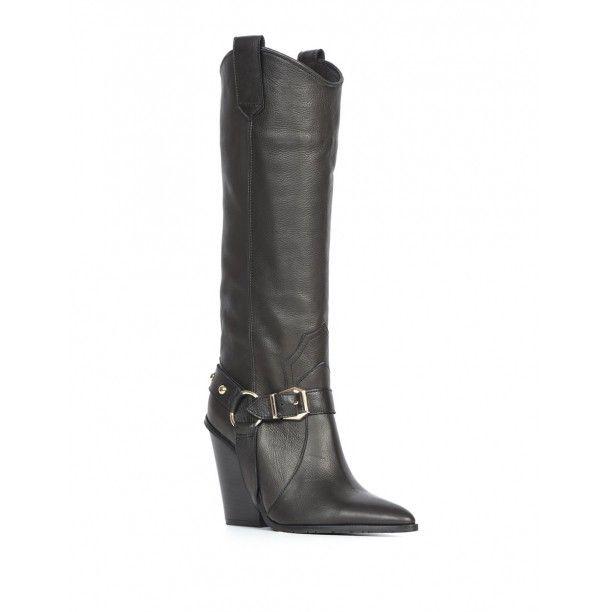 Amela Bayan Cizme Siyah Deri Siyahderi Kiyafet Ve Aksesuarlar Ayakkabilar Lidyana Ayakkabi Ilvi In 2020 Riding Boots Boots Shoes