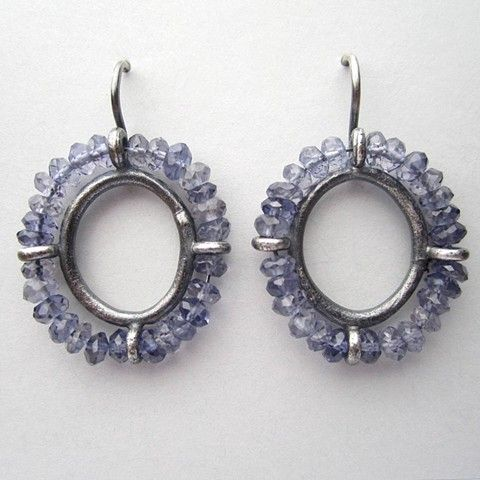 Blue Portrait Earrings/ Stacey Lane