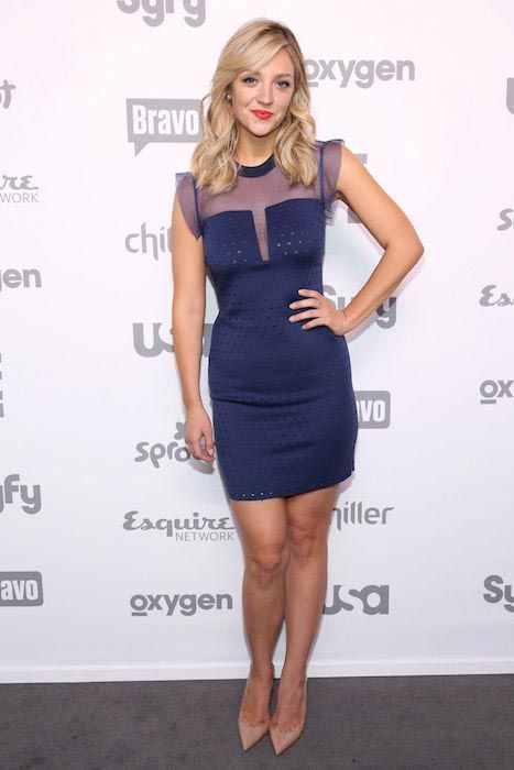 Abby Elliott at 2015 NBC Universal Cable Entertainment Upfront in New York in May 2015....