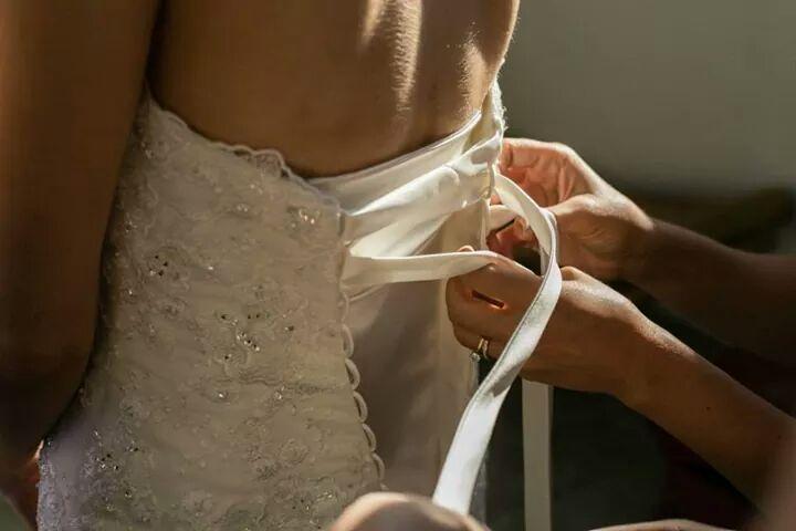 Wedding dress...at work!