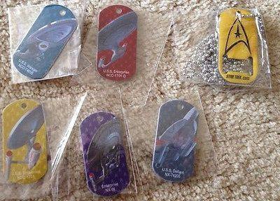 Star Trek Las Vegas & Sdcc 2014 Comic Con Dog Tag Set of SIX Rare @ niftywarehouse.com #NiftyWarehouse #StarTrek #Trekkie #Geek #Nerd #Products