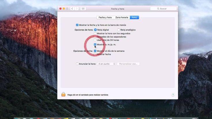 Configurar fecha y hora en Mac