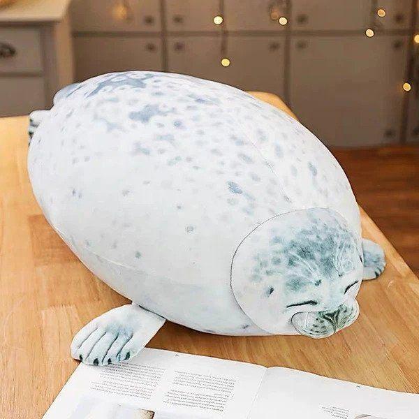 fluffy plush seal pillow buy online