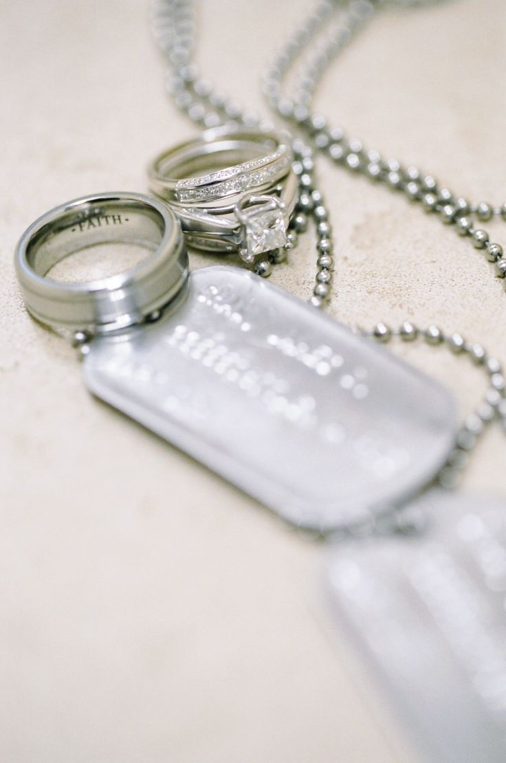 Dog tags and wedding bands picture. | My heart, my love ...