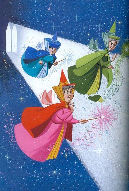 My favorite disney characters!!! Flora, Fauna & Merryweather | Sleeping Beauty