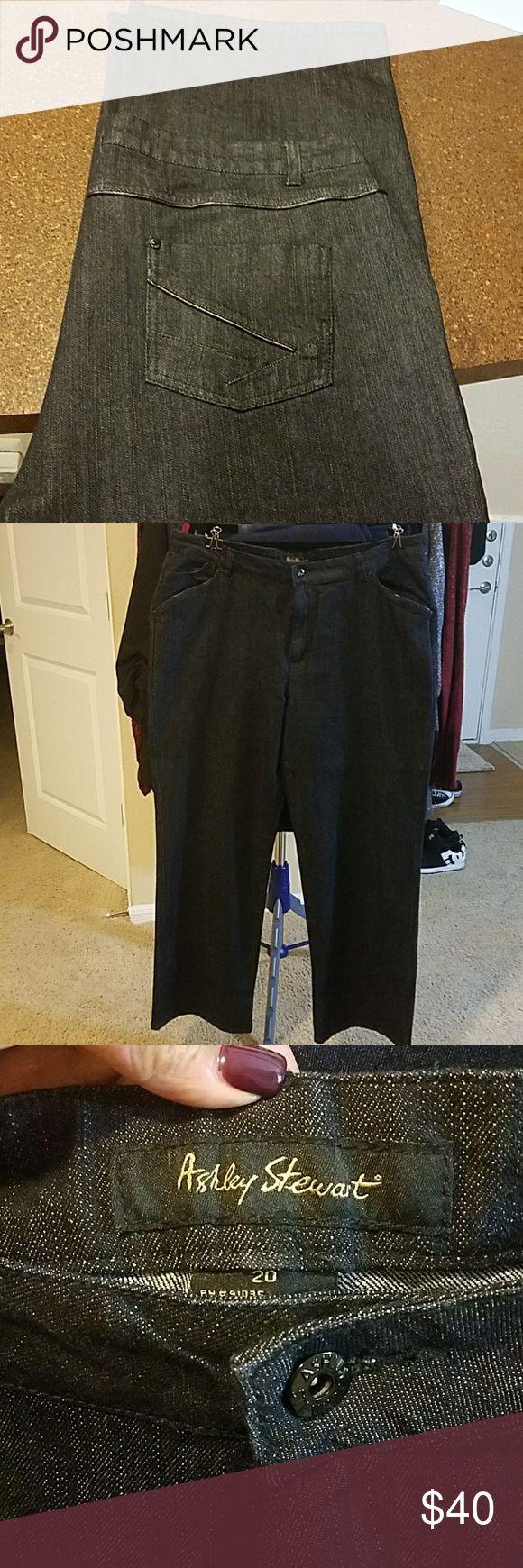 Darkest Rinse straight cut jeans Very nearly black jeans, never worn Ashley Stewart Jeans Straight Leg