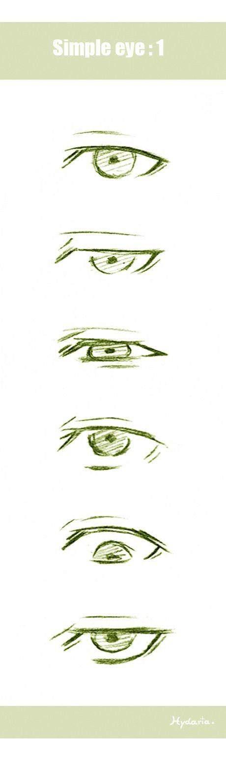 Hydaria @ Tumblr, Simple eye reference.
