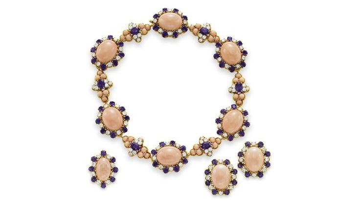 Van Cleef & Arpels. Dodecanese Coral, Amethyst, Diamond and Yellow ...