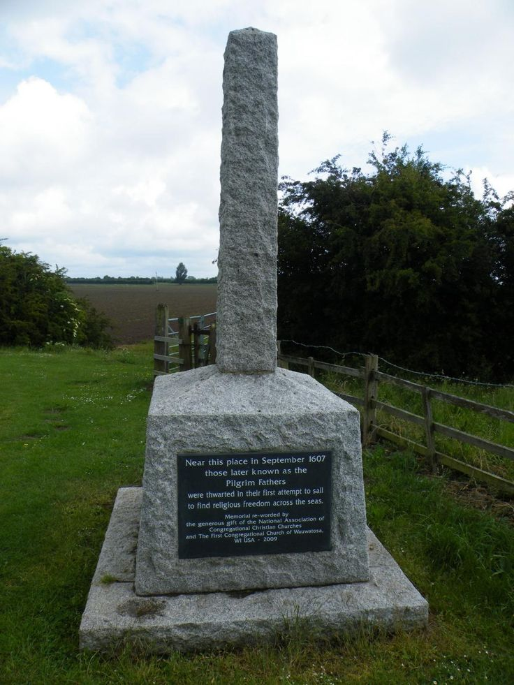 The Pilgrim Fathers Memorial Scotia CreekBoston Lincolnshire.