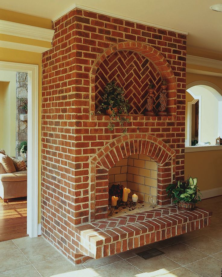 21 Best Images About Brick Fireplaces And Fire Pits On