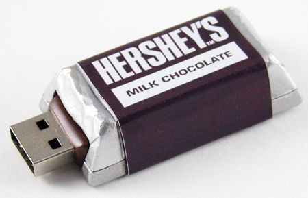 Apart from this particular Hershey's product the USB drives will also be available in Mr. Goodbar, Krackel, Twizzlers, Bubble Yum! The memory capacity will vary from 1GB TO 4GB priced from $14.99 to $29.99.