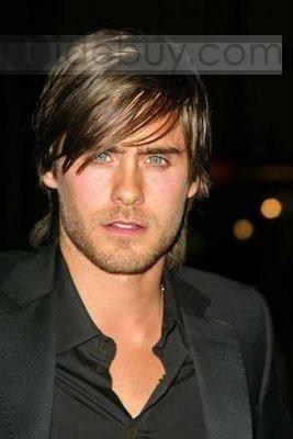 2012 流行 ファッション男性 ヘアスタイルミディアムストレイトブラウンレースアバウト10インチ 100% 人毛ウィッグ