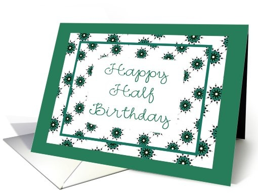137 best half birthday images on pinterest anniversary parties happy half birthday half birthday greeting card universe will customize this greeting card bookmarktalkfo Image collections