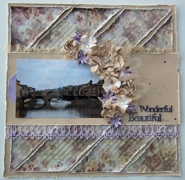 Couture Creations: Wonderful, Beautiful by Kerrie Gurney  | #couturecreationsaus #scrapbooking #decorativedies #tutorial