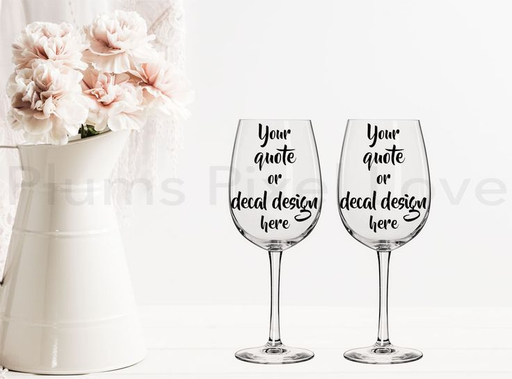 2 Wine Glasses Mockup, Styled Stock wine glass Image, Mock up wine glasses for Decals, stickers or engraving, Digital file, mock-up by plumspixellove on Etsy