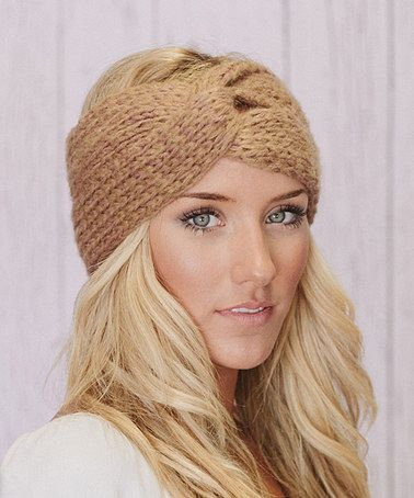 Another great find on #zulily! Caramel Twist-Knot Knit Headband by Three Bird Nest #zulilyfinds