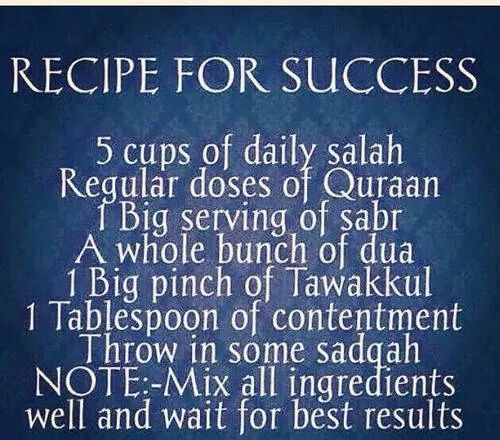 The recipe for successful life of both this and here after. #Alhumdulillah #For #Islam #Muslim