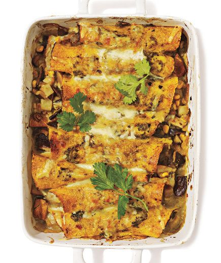 Shiitake Mushroom and Potato Enchiladas | Tasty vegetables and healthy whole-grains take center stage in these delicious mains.