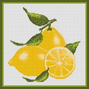 Lemons, free cross stitch pattern from Alita Designs