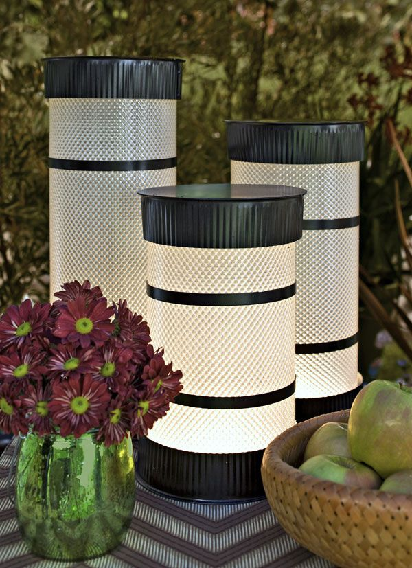 Could be used outside or as a cool diffused light inside.  Lowe's Creative Ideas Digital Magazine